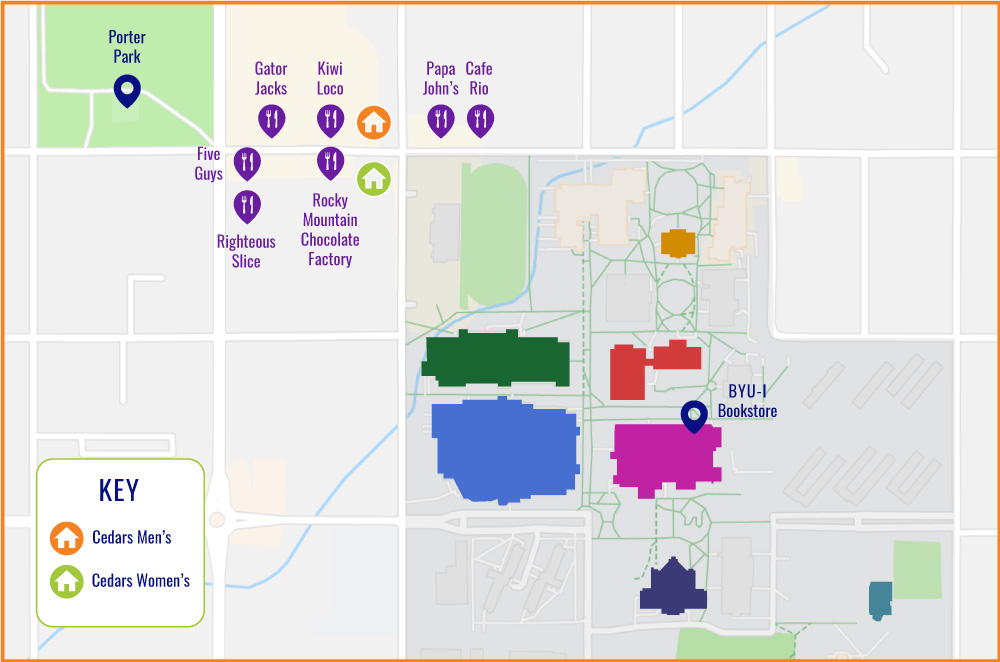 Campus Map | Cedars Housing